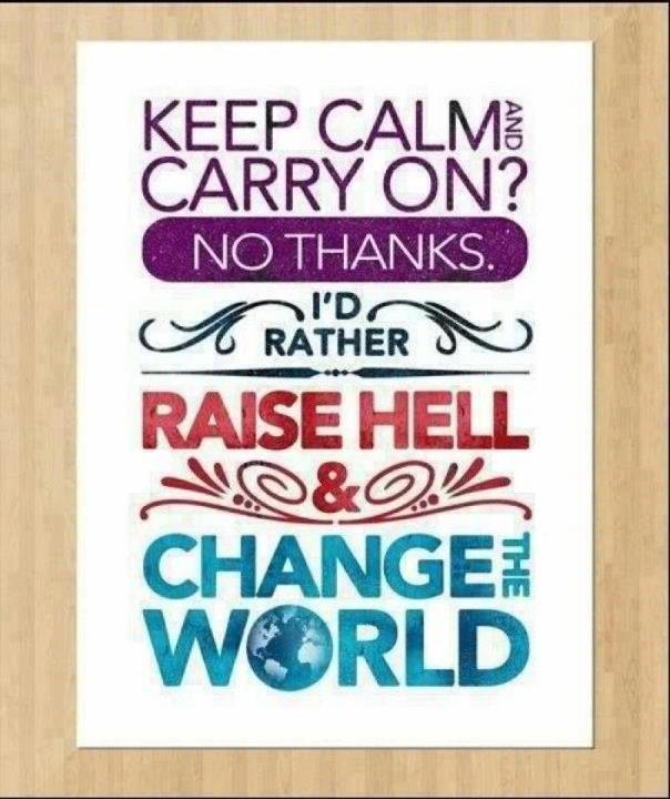 Keep Calm & Carry On?